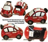Spardose Auto Rennwagen SPEED NO. 1 aus Kunststein mit Spardosenverschluss Maße ca.: L= 17 cm - Bild vergrößern