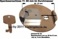 Spardosenschloss 11: 65mm 1 Stück Maße: Ø= 65 mm - Bild vergrößern