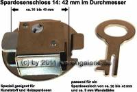 Spardosenschloss 14: 42mm 1 Stück Maße: Ø= 42 mm - Bild vergrößern