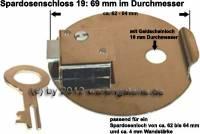 Spardosenschloss 19: 69mm 1 Stück Maße: Ø= 69 mm - Bild vergrößern