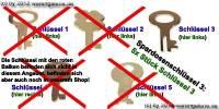 Spardosenschlüssel 3: 5x Stück Metall- Spardosenschlüssel - Bild vergrößern