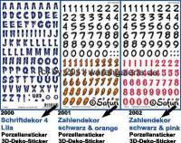 Porzellansticker 3-D-Sticker mit Dekor Schriftzeichen Safuri Dekorvariante selbst auswählen - Bild vergrößern