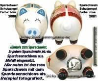 Sparschwein Schutzengel Farbvariante auswählen Keramik mit Spardosenschloss Maße ca.: L= 16 cm - Bild vergrößern