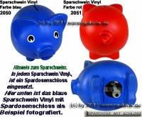 Sparschwein Vinyl Kunststoff Farbvariante wählen mit Spardosenschloss & Schlüssel Maße ca.: L= 20 cm - Bild vergrößern