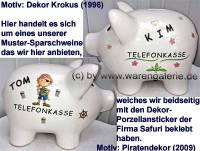 Sparschwein Aufschrift Telefonkasse Keramik mit Schloss Maße ca.: L= 21 cm ! Sonderverkauf ! 25aG - Bild vergrößern