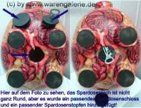 Sparschwein Blumendekor Keramik extra Groß mit Schloss Maße ca.: L= 28 cm ! Sonderverkauf ! 89i - Bild vergrößern