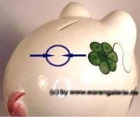 Sparschwein Riese extra Groß Dekor Kleeblatt Keramik mit Schloss Maße: L= 26 cm Sonderverkauf ! 455a - Bild vergrößern