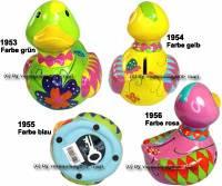 Spardose Ente Kinder Farbe auswählen Keramik mit Spardosenschloss und Schlüssel Maße ca.: L= 12,5 cm - Bild vergrößern