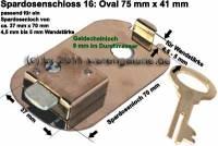Spardosenschloss 16: Oval 75mm 1 Stück Maße: 75 mm x 41 mm - Bild vergrößern