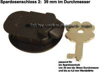 Spardosenschloss 2: 39mm 1 Stück Maße: Ø= 39 mm - Bild vergrößern