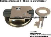 Spardosenschloss 3: 39mm 1 Stück Maße: Ø= 39 mm - Bild vergrößern