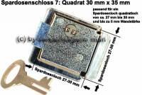 Spardosenschloss 7: Quadrat 1 Stück Maße: 30 mm x 35 mm - Bild vergrößern