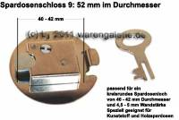 Spardosenschloss 9: 52mm 1 Stück Maße: Ø= 52 mm - Bild vergrößern