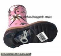 Spardose Stiefel Blumendekor rosa/ bunt Keramik mit Spardosenschloss Maße ca.: H= 25 cm - Bild vergrößern