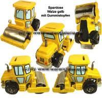 Walze gelb Spardose Kunststein mit herausnehmbaren Gummistopfen Maße ca.: L= 18,5 cm - Bild vergrößern