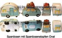 Spardosen Wohnwagen- Gespann bunt 2er Set aus Keramik mit Spardosenstopfen Maße ca.: L= 30 cm - Bild vergrößern
