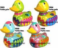 Spardose Ente Kinder Farbe auswählen Keramik mit Spardosenschloss und Schlüssel Maße ca.: L= 12,5 cm